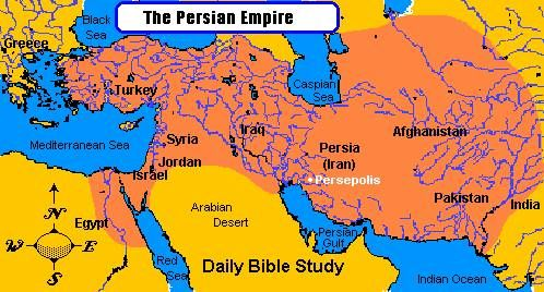 Persia In The Bible Persian Empire Map During King Cyrus The Great Persian Empire Persian Empire Map Historical Maps