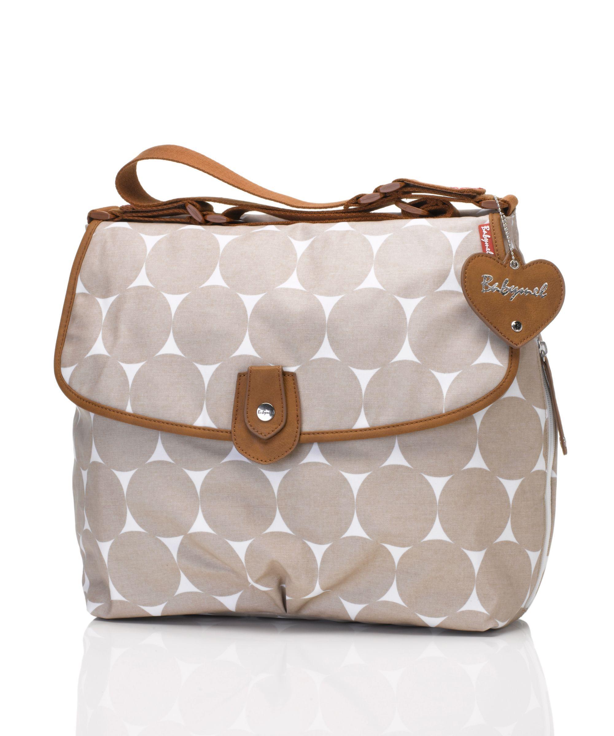 Babymel Satchel Jumbo Dot Change Bag Fawn Baby