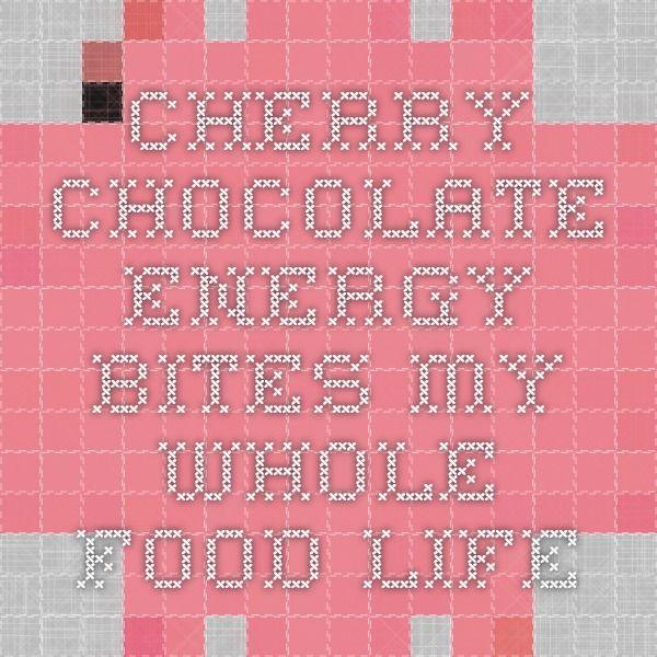 Cherry Chocolate Energy Bites - My Whole Food Life