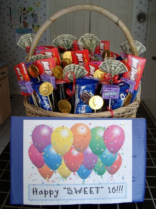16 Birthday Presents Candy Gifts For Boys Bash