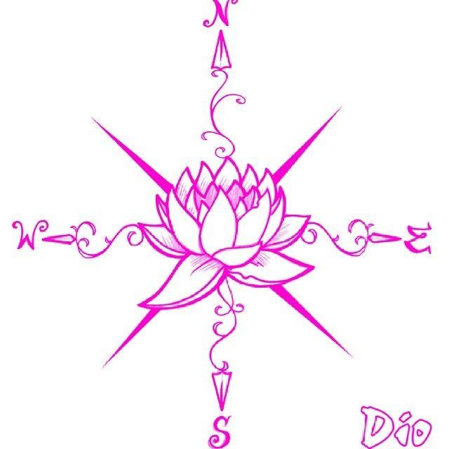 Compass Lotus Tattoo Ink Art Artwork Tattooideas Flower Art