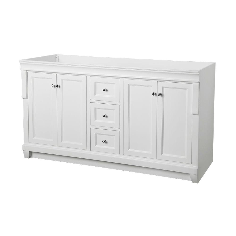 60 Inch White Bathroom Vanity.Home Decorators Collection Naples 60 In W X 21 3 4 In D