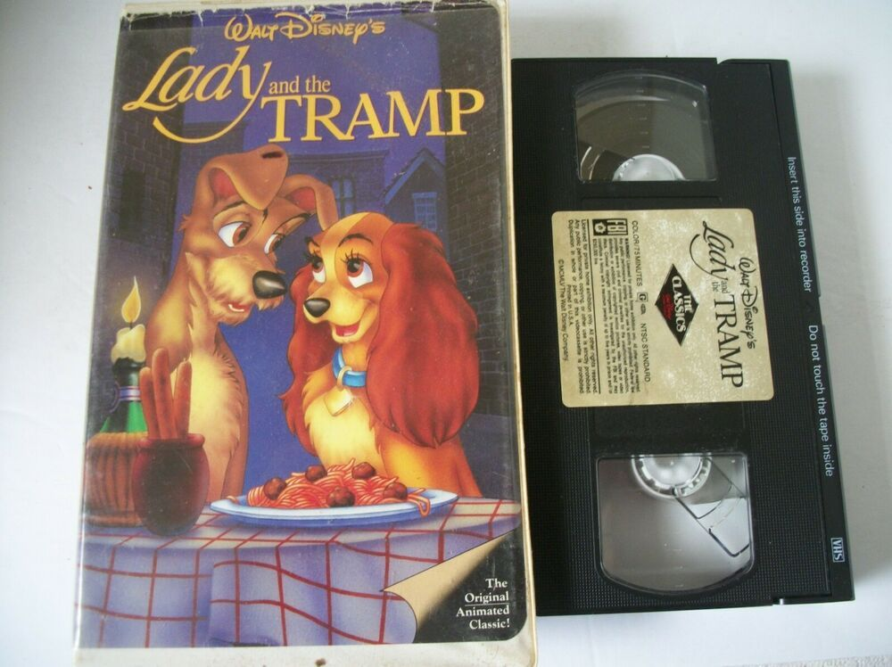 Lady And The Tramp Vhs 1998 Clam Shell Lady And The Tramp Clams Clam Shell