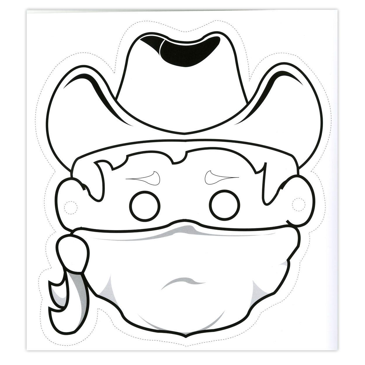 Masque De Cowboy A Imprimer Decorer Et Decouper Activites Cowboys