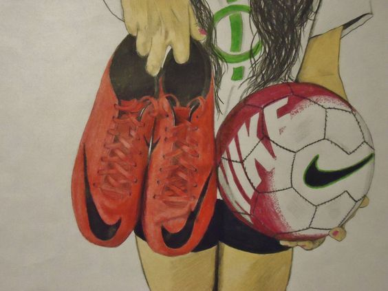 Drawing On A Soccer Balls Soccer Cleats And Drawings On Pinterest Soccer Drawing Soccer Art Football Drawing