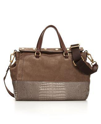 Furla Handbag Marais Suede Bauletto Designer Handbags Outlet