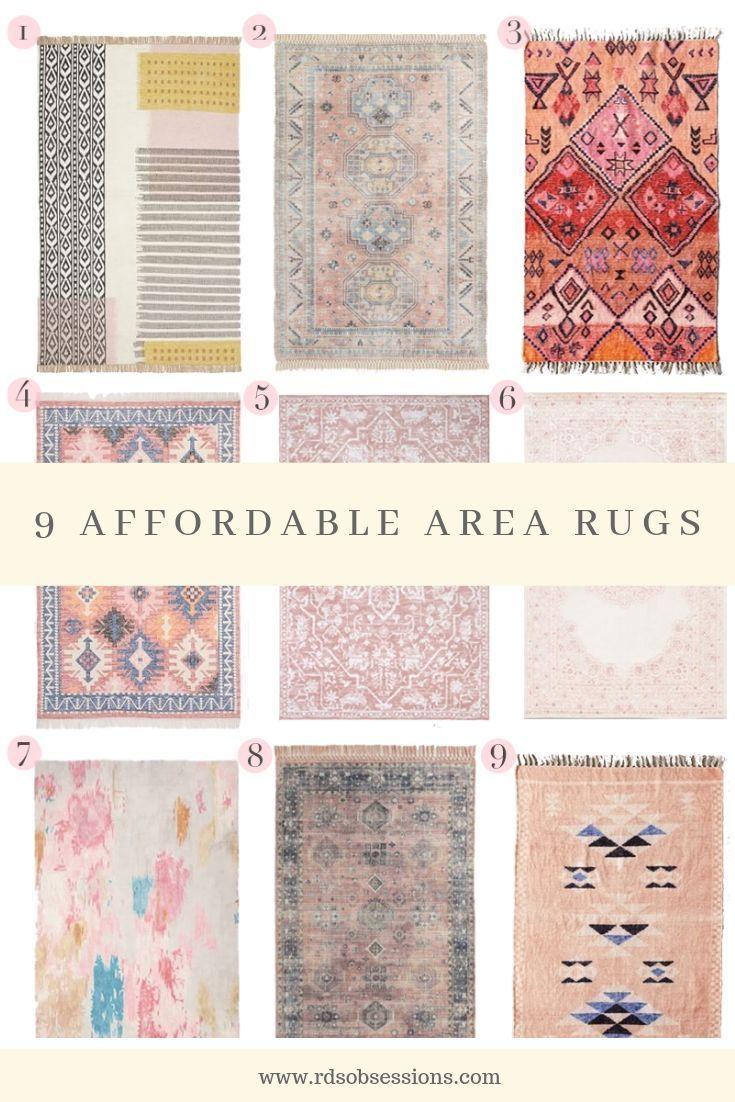 Finally found 9 rugs that are under $300 and most are under $200. // Cute Rugs for the House // Where to Buy Rugs // Home Decor Ideas  #arearugs #homedecor #cuterugs #affordablerugs