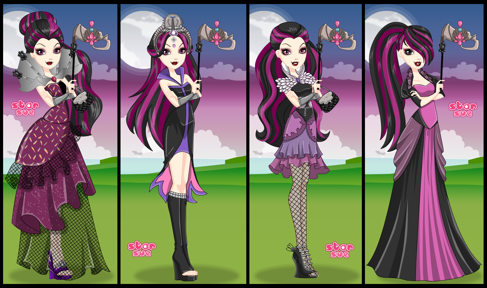 Ever After High Thronecoming Raven Queen Dress Up Game ...