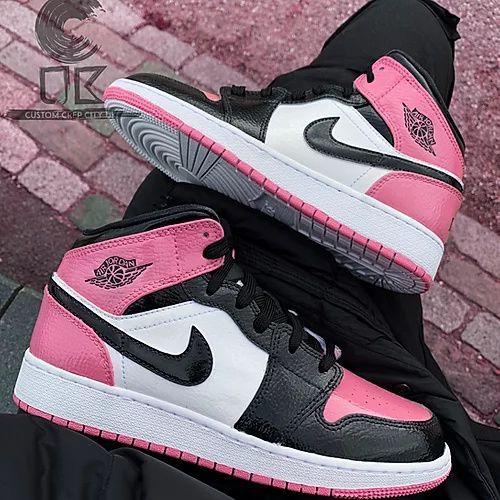 pink jordan 1 mid