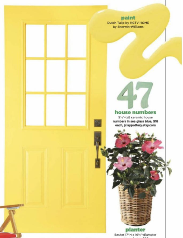 Paint Color Dutch Tulip By Hgtv Home By Sherwin Williams Front Door Paint Colors Ceramic House Numbers Painted Front Doors