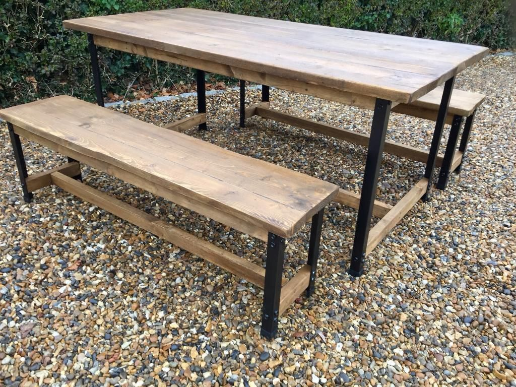 Outstanding Newly Constructed Bespoke 6Ft Rustic Industrial Table And Gmtry Best Dining Table And Chair Ideas Images Gmtryco