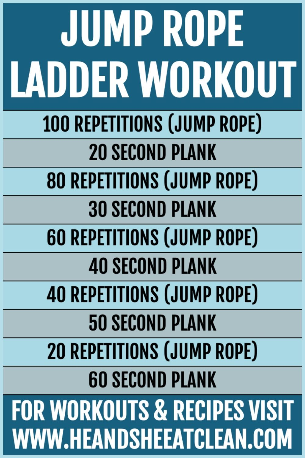 Jump Rope Ladder Workout #workout #fitness #exercise #heandsheeatclean