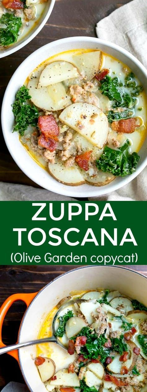 Zuppa Toscana (Copycat Olive Garden recipe) - Dinner for Two