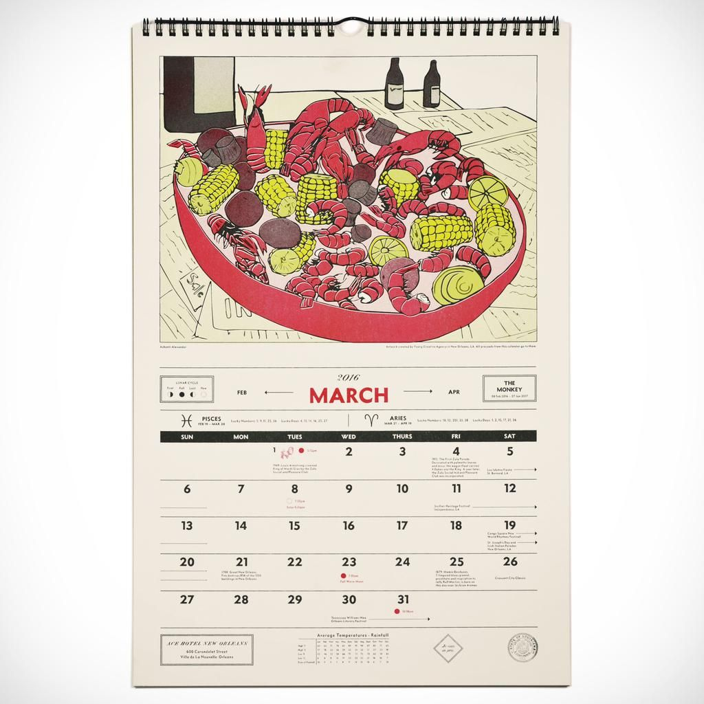 Ace Hotel New Orleans 2020 Calendar Ace Hotel Riso Print New