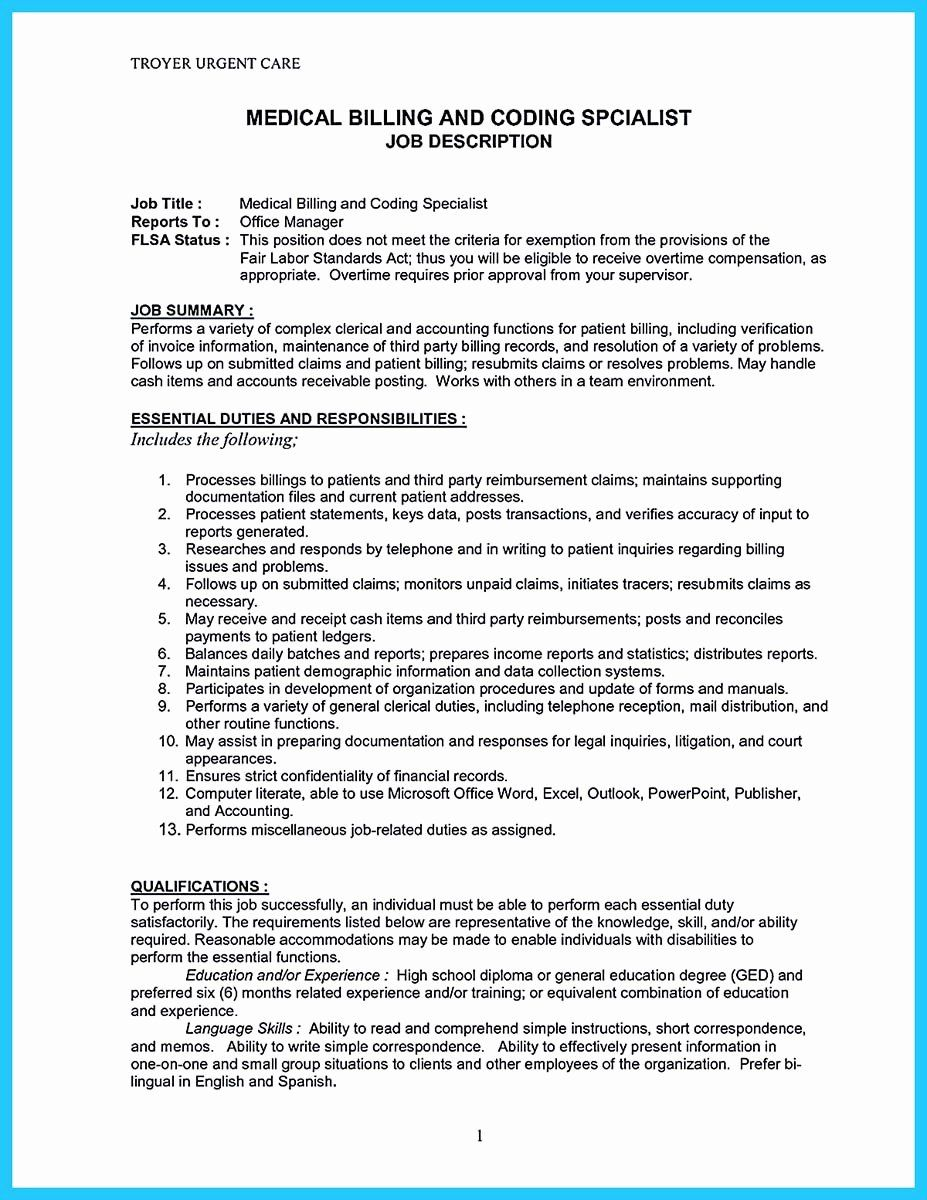 23 Medical Biller Resume Examples In 2020 With Images