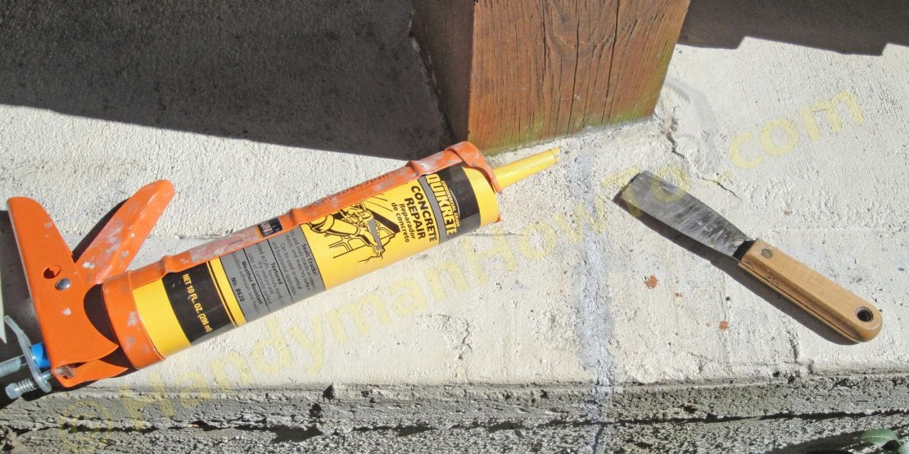 How To Repair A Cracked Concrete Patio U2013 Part 2