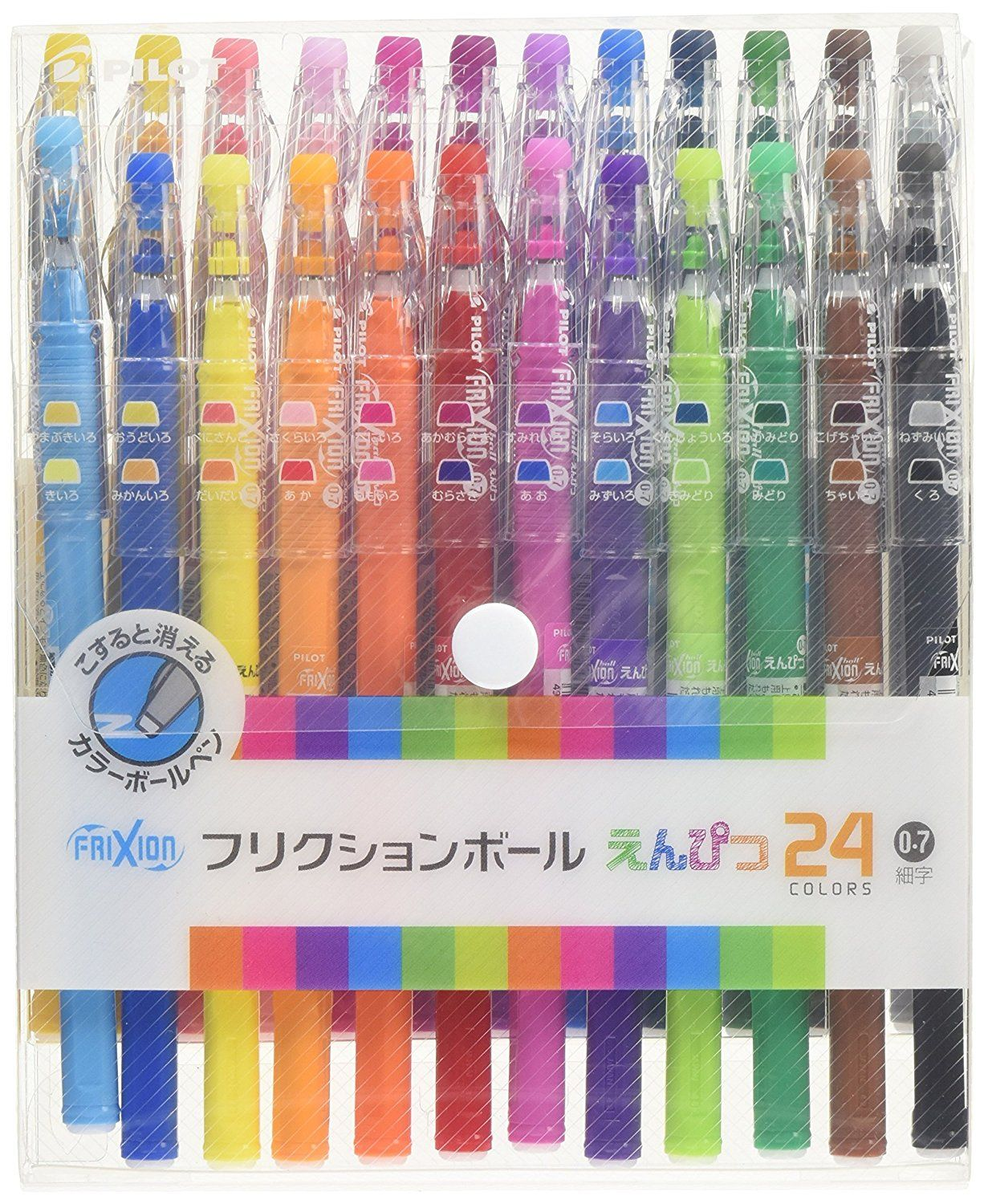 24 Colors Set, Pilot FriXion Pencil LFP-312FN-24C 0.7mm Ballpoint Pen