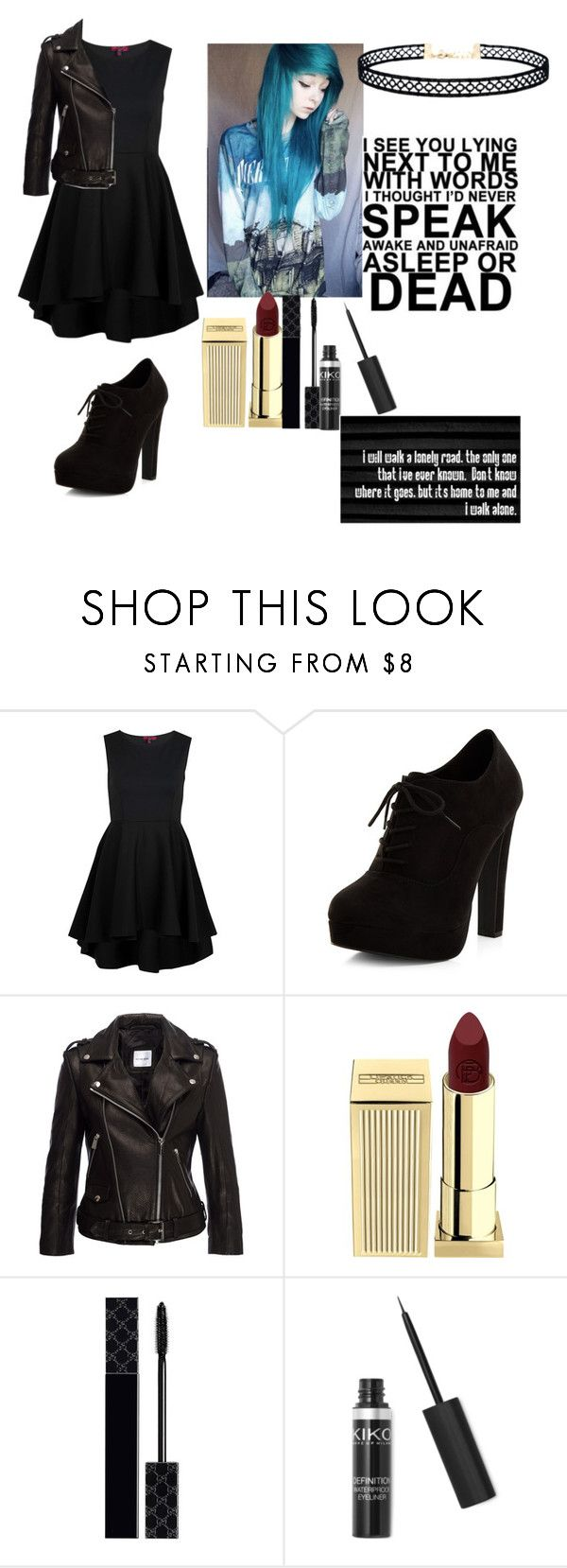 """I Don't Know Anymore//Severus Snape"" by weareobssesed ❤ liked on Polyvore featuring New Look, Anine Bing, Lipstick Queen, Gucci, LULUS and MadeBySnape"