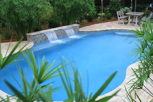 Swimming Pool Design With Water Features In Summerville Sc
