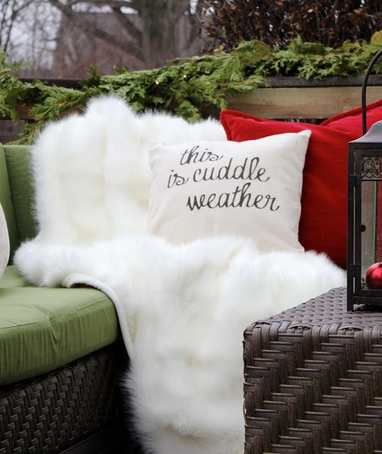Makeover Reveal - Two Winter Outdoor Living Spaces!