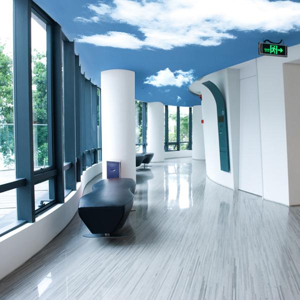 青空自由自在 シリーズは 天井や壁のサイズ 形状を問わず 青空 雲