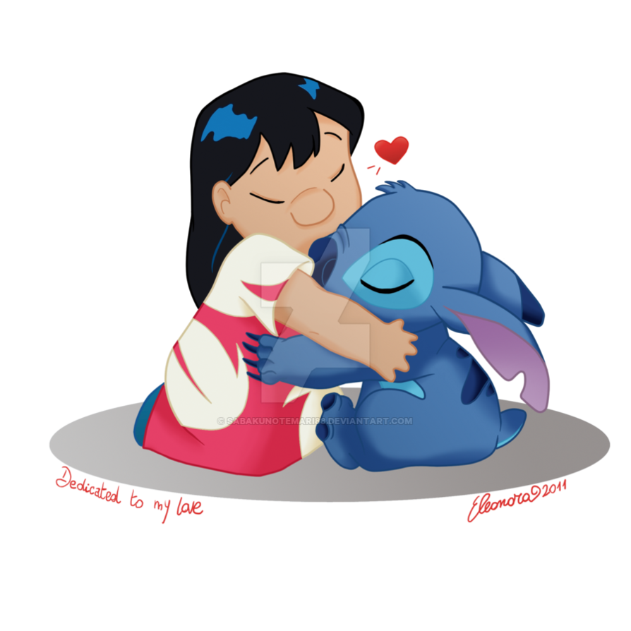 """Ohana means family.."" Little chibi Lilo with Scrump One"