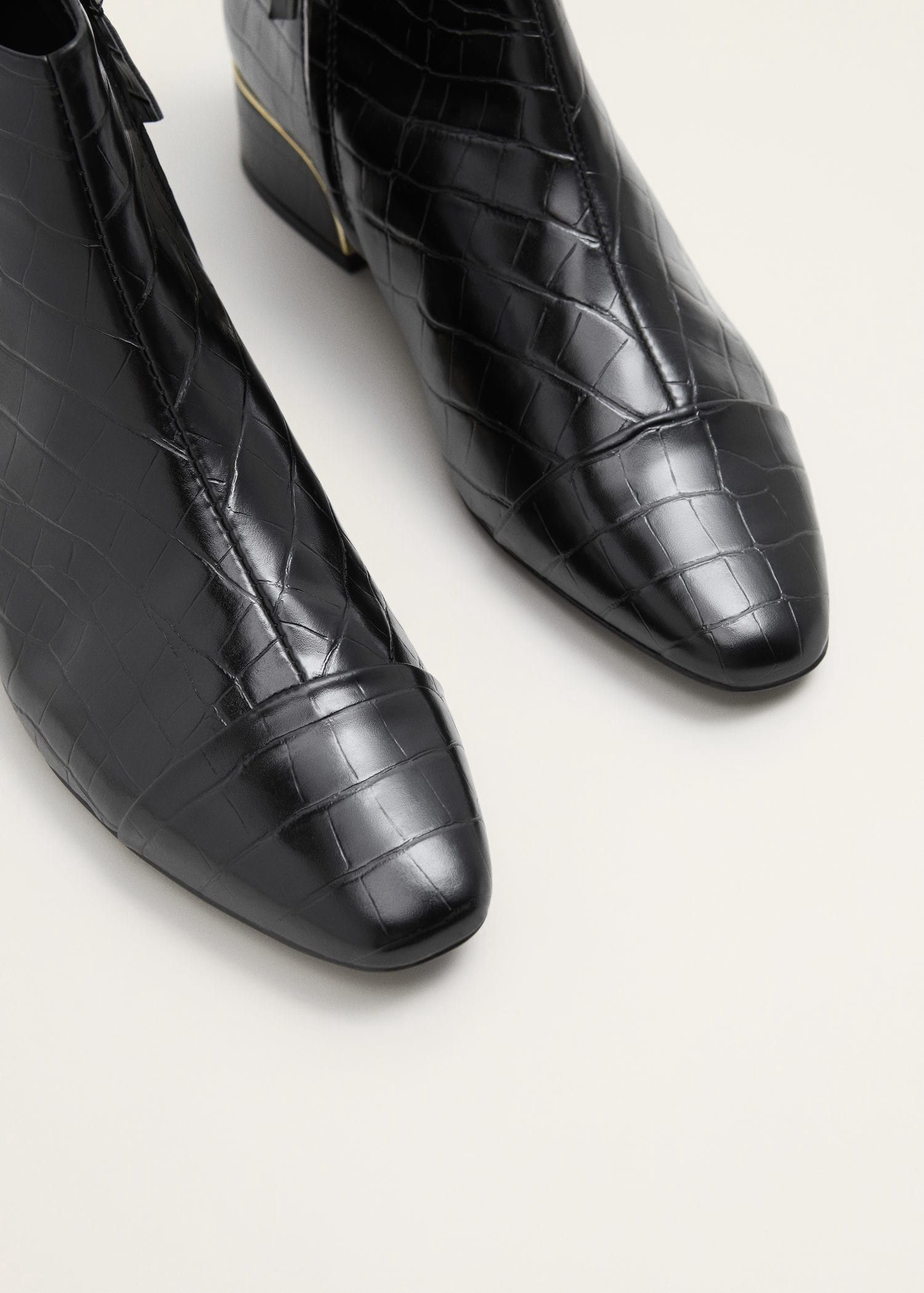 Croc Effect Ankle Boots By Mango Products Pinterest Bottines