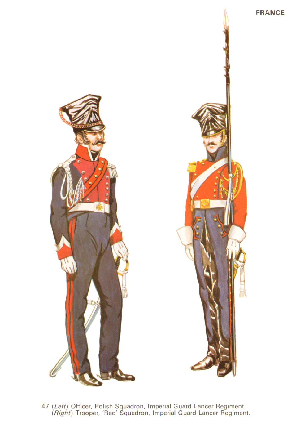 Ufficiale dei lancieri polacchi e lanciere rosso olandese della guardia imperiale francese