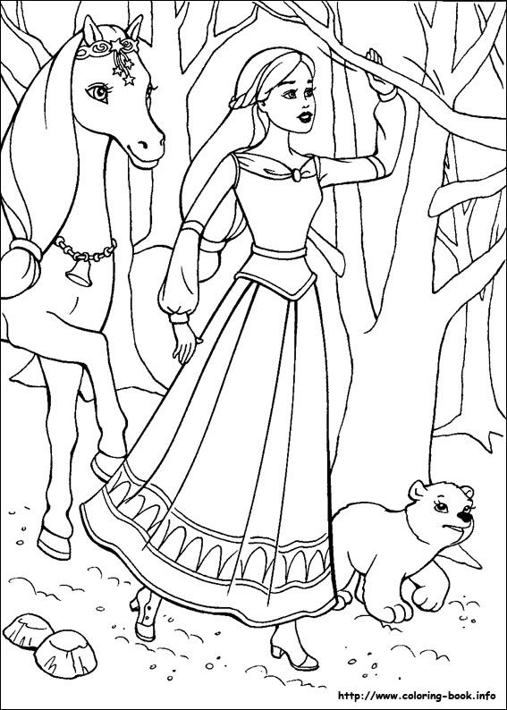 Barbie And The Magic Of Pegasus Coloring Picture Unicorn Coloring Pages Horse Coloring Pages Barbie Coloring