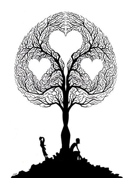 'Tree of love' by Luis Pastor on artflakes.com as poster or art print $17.33