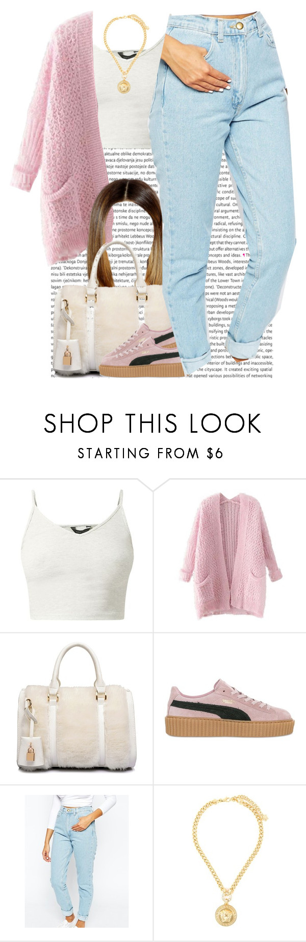 """December 21, 2k15"" by xo-beauty ❤ liked on Polyvore featuring Chicnova Fashion, Puma, American Apparel and Versace"
