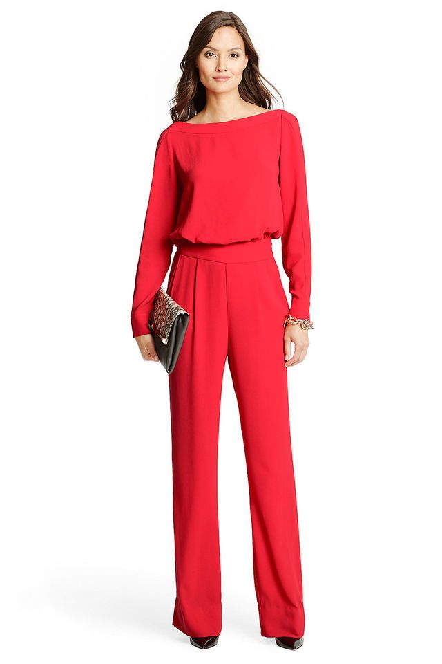 Women's Clothing Dependable 2019 Plain Black Blue Red Solid Ol Workwear Autumn Jumpsuit Wrap Lace Up Sexy V-neck Long Sleeve Women Elegant Wide Leg Jumpsuit Cheapest Price From Our Site