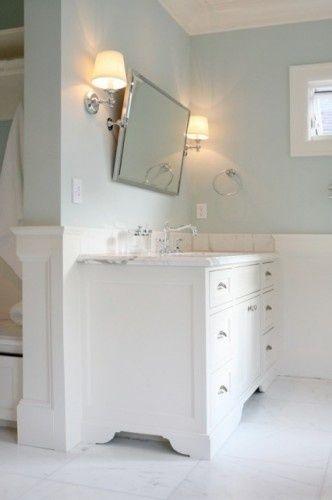 Pale Blue Bathroom: Benjamin Moore Woodlawn Blue I Like The Tilt Mirror
