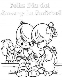 Dia Del Amor Y La Amistad Para Colorear Amistad Dibujos Libro De Colores Paginas Para Colorear Para Ninos