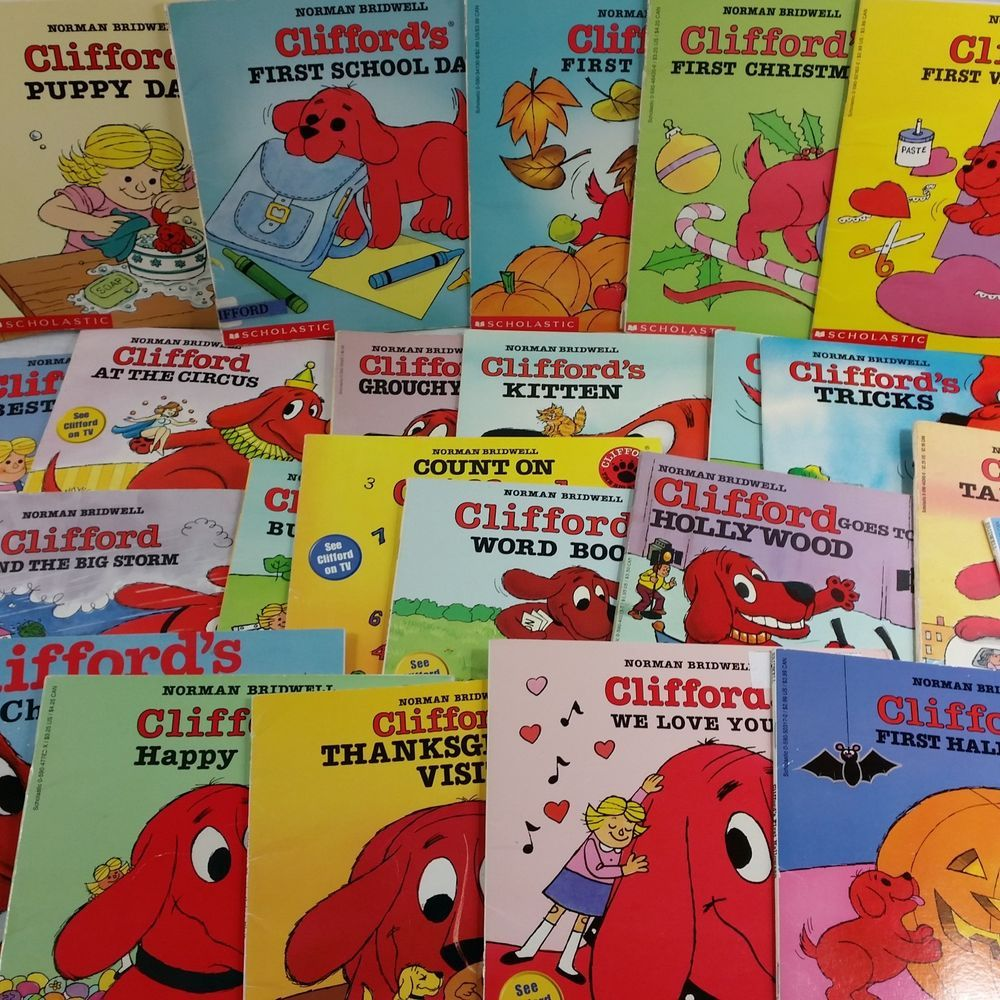 Clifford Books Lot Of 30 Paperback Puppy Days Holidays Scholastic Vintage 90s Clifford Classic Kidsbooks Books Set Series Clifford Books Books Dog Books