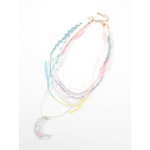 These beautifully colorful chokers from Japanese fashion label Swankiss are just full of sparkly, magical charm! Available in clear or pink each of beautiful necklaces consists a series of colorful ribbons with a crescent moon motif at the bottom which is patterned with stars and has the word Baby engraved at the base. Fastening with an elegant golden chain these pretty necklaces are sure to add a...