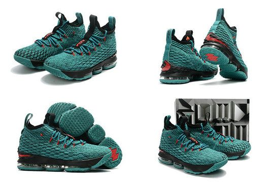 4670cd62557bd 2017 New Arrival Latest 2017 2018 Lebron 15 XV Christmas Sport Turquoise  Black Red For Cheap