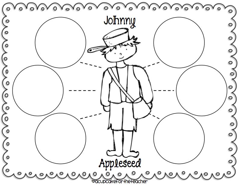 A Cupcake for the Teacher: Johnny Appleseed {Craftivities