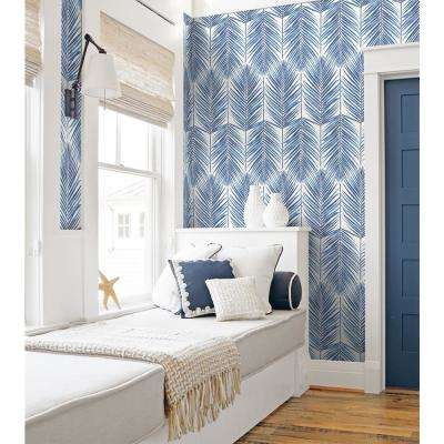 Nextwall Paradise Palm Coastal Blue Vinyl Strippable Roll Covers 30 75 Sq Ft Nw33002 The Home Depot In 2021 Peel And Stick Wallpaper Palm Leaf Wallpaper Temporary Wallpaper