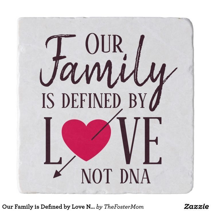 Our Family is Defined by Love Not DNA Adoption Trivet   Zazzle.com