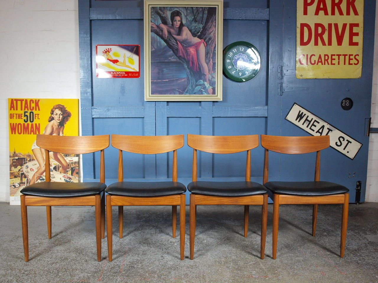 Set of 4 #retro vintage mid #century 1960s g plan teak dining chairs #danish era,  View more on the LINK: http://www.zeppy.io/product/gb/2/152314296909/