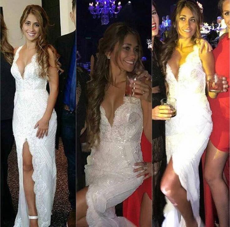 Antonela Roccuzzo Lionel Messi Wedding Dress By Rosa Clará
