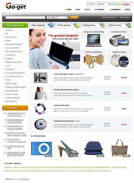 online auction templates