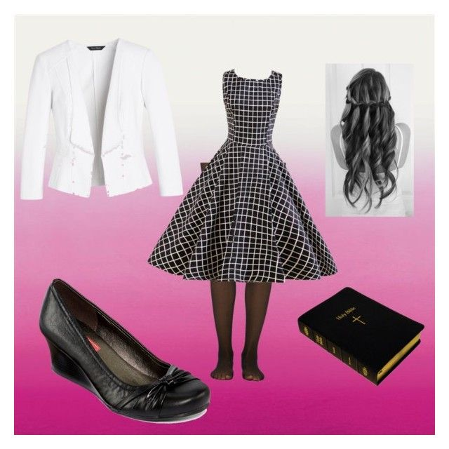 """Church"" by irishboo on Polyvore featuring Fogal, White House Black Market and POP"