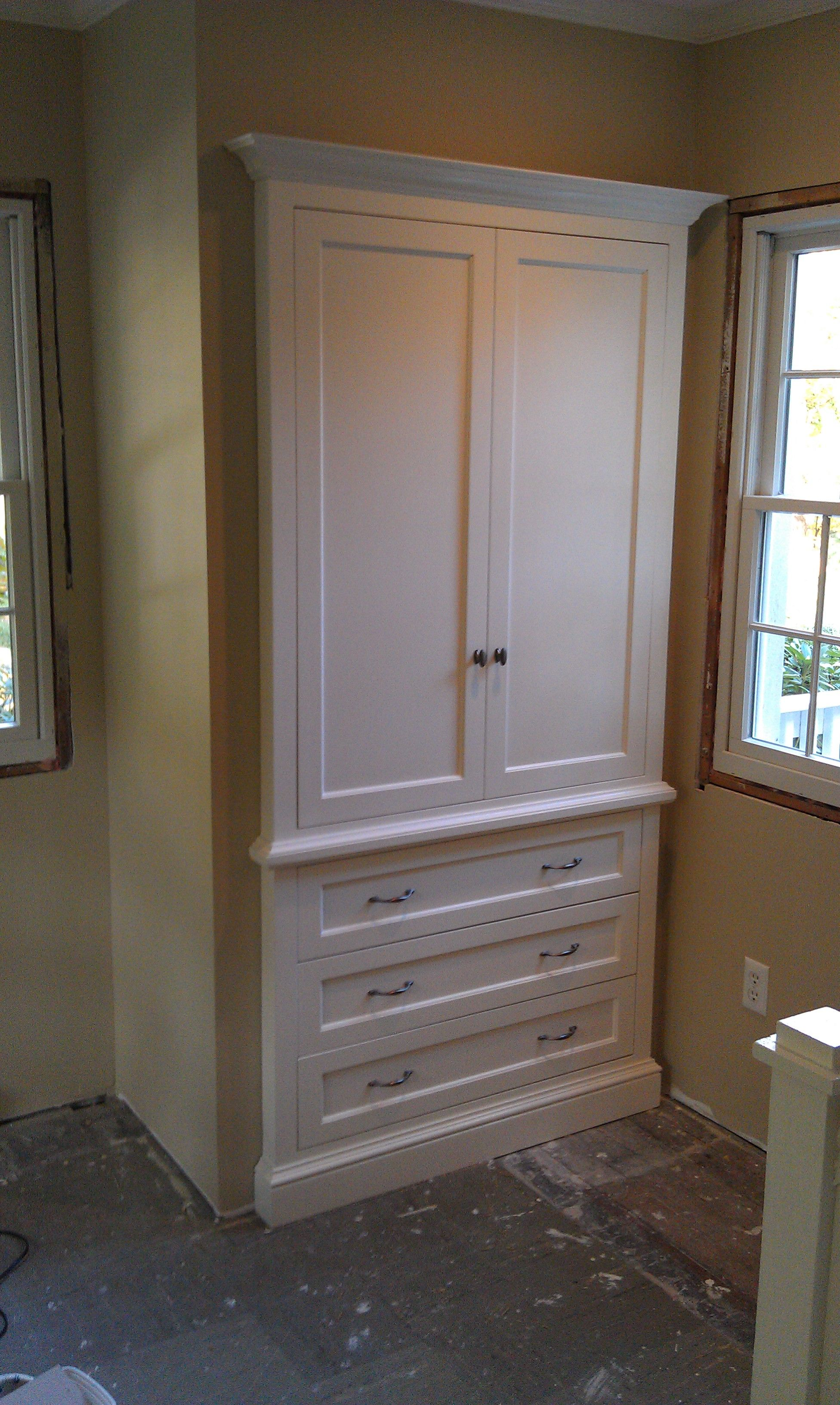 Built In Armoire For Master Bedroom, But Running The Length Of The Wall