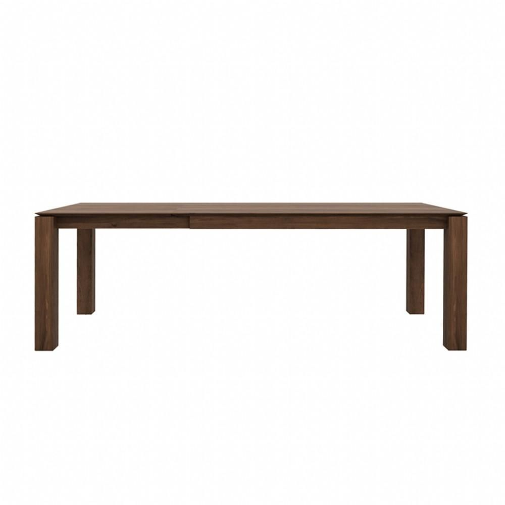Ethnicraft Walnut Slice Extendable Dining Table Legs 10 X 10cm