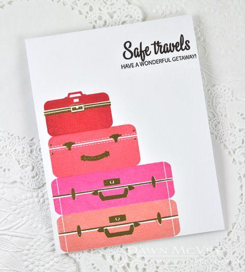 Safe Travels Card by Dawn McVey for Papertrey Ink (July 2014)