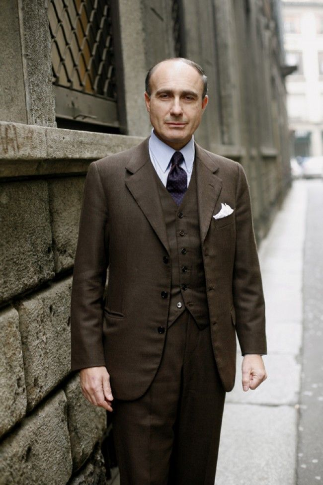 Men's Dark Brown Wool Blazer, Dark Brown Wool Waistcoat, Blue ...