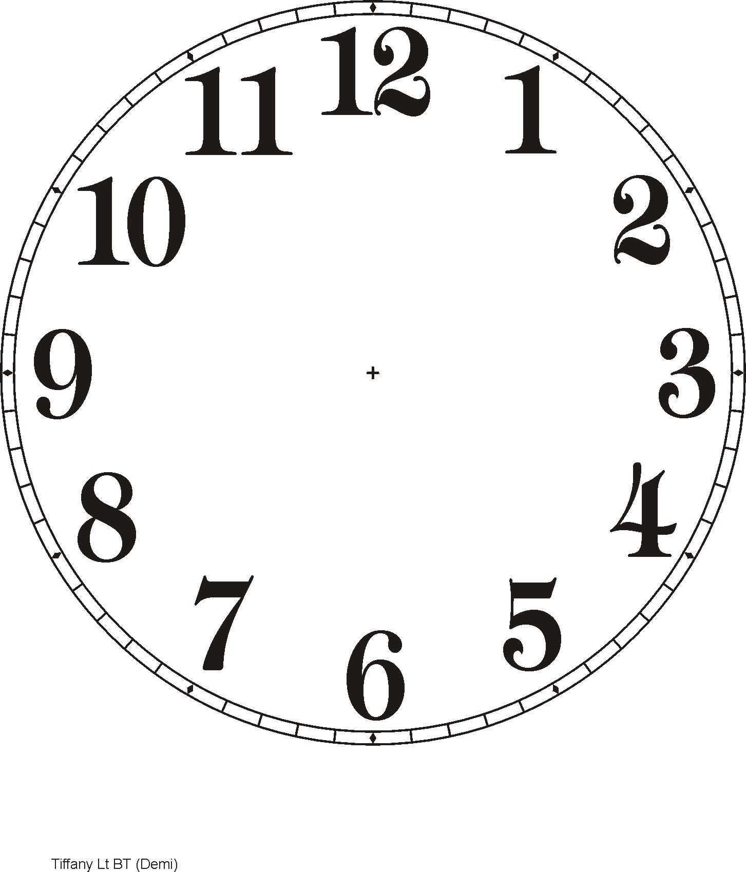 photograph regarding Printable Clock Face With Hands known as Printable Clock Templates Below are a number of illustrations: Do it yourself