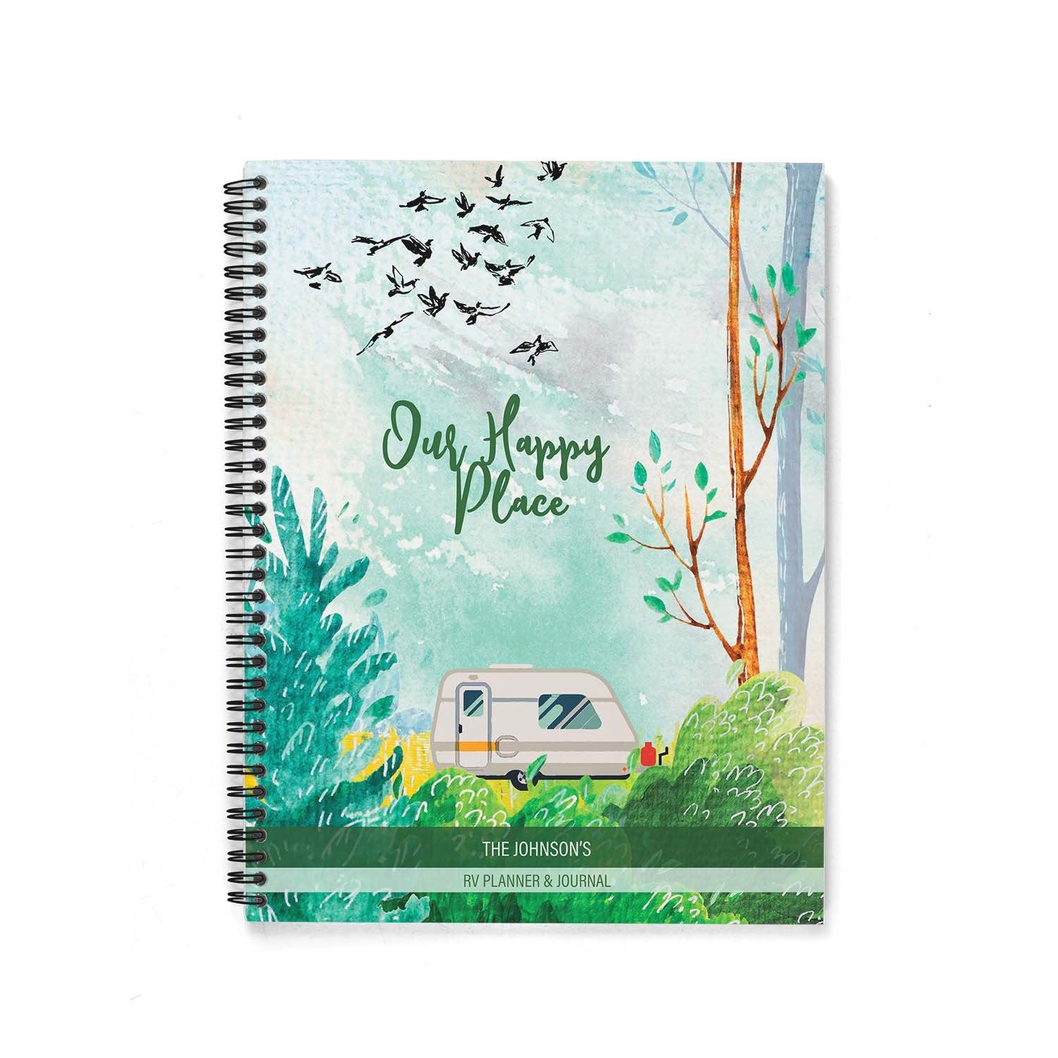 Rv Log Amp Camping Journal Watercolor Forest With Travel